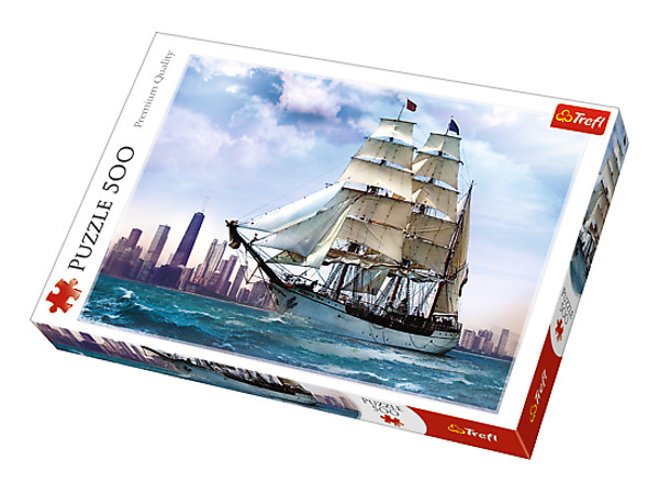 PUZZLE 500 ŻAGLOWIEC NA TLE CHICAGO  37120