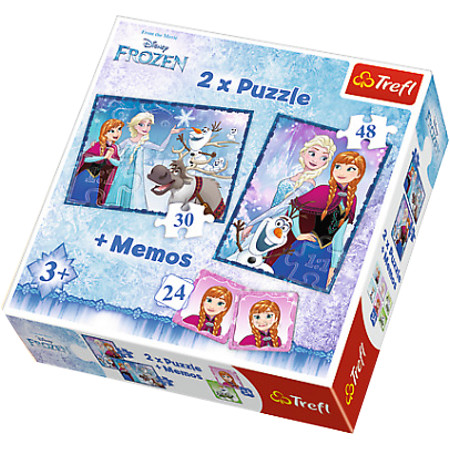 Puzzle 2w1+memos Siostry Frozen
