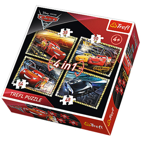 Puzzle 4w1 Cars 3 Gotowi do wyścig