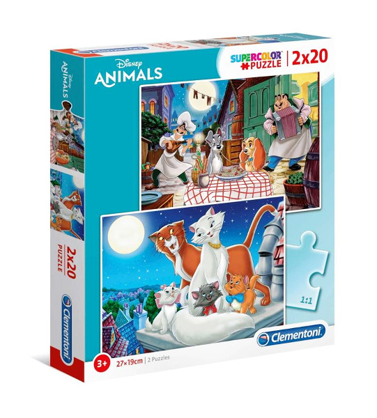 Puzzle 2x20 Animal Friends