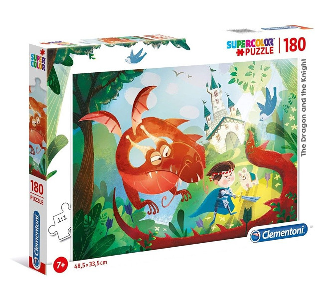 Puzzle 180el. The dragon and the knig