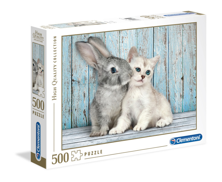 Puzzle 500 el.Cat and Bunn