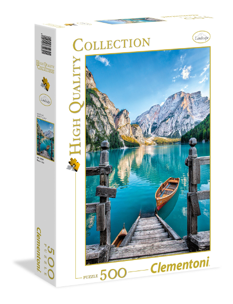 Puzzle 500el Hqc Braies Lake