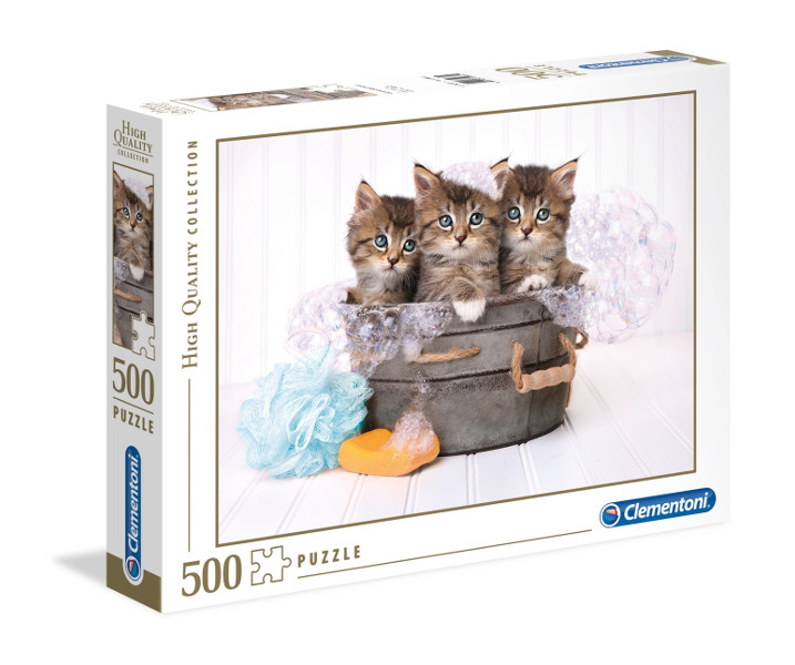 Puzzle 500el Hoc kittens and soap