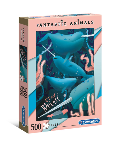 Puzzle 500el. Fantastic animals narva